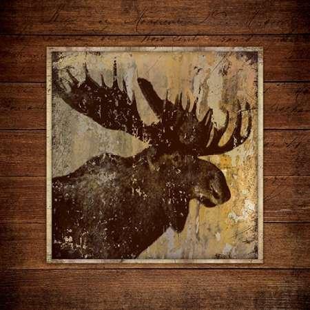 Feelingathome.it, STAMPA SU TELA 100% cotone INTELAIATA Ritratto Moose cm 61x61 (dimensioni personalizzabili a (Moose Ritratto)