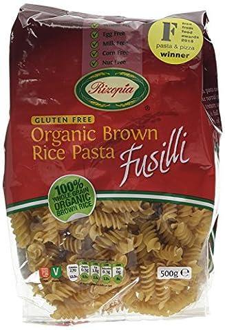 Rizopia Organic Brown Rice Fusilli 500 g (Pack of 2)