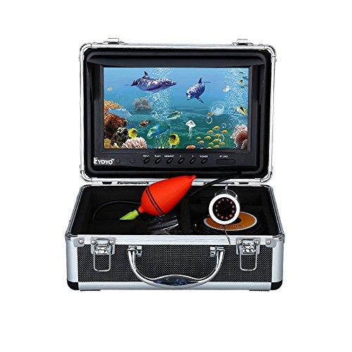Eyoyo 30m / 164ft 8GB 9 'Bildschirm 1000TVL Fisch Finder Unterwasser Fischerei IR Infrarot Videokamera mit DVR Recorder Silber (30m / 164ft IR DVR 8GB)