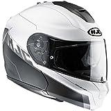 Motorradhelm HJC RPHA MAX EVO ZOOMWALT MC-10SF schwarz-weiß Gr.M