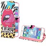 deinPhone Apple iPhone 6 6S Plus (5.5) KUNSTLEDER FLIP CASE Hülle Tasche Sexy and I know it