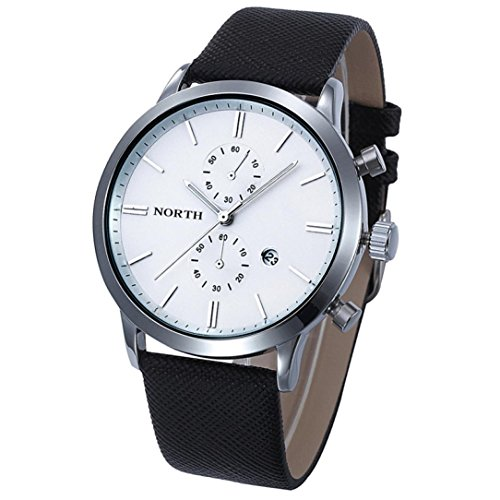 ❤️Montres Homme, Amlaiworld Mode Hommes occasionnels montre imperméable à l'eau Montre militaire en cuir date Cadeau de montre du Japon❤️ (1, A)