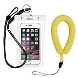 EOTW IPX8 Wasserdichte Hülle mit Kamera Schwimmer Handschlaufe, Wasser- und staubdichte Tasche für Smartphones bis 15,24 cm (6 Zoll), Sehr gut für Wassersport, Tauchen, Schnorcheln, Schwimmen und Strand, Weiß