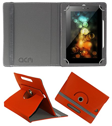 Acm Rotating 360° Leather Flip Case for Karbonn Ta-Fone A39 Cover Stand Orange  available at amazon for Rs.149