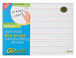 GoWrite! Dry Erase Handwriting Ruled Sheets With Adhesive, 11
