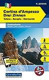 Italien Outdoorkarte 06 Cortina d'Ampezzo Drei Zinnen 1 : 35.000: Tofane, Hohe Gaisl, Marmarole. Wanderwege, Radwanderwege, Nordic Walking, Skilanglauf, Skitouren (Kümmerly+Frey Wanderkarten) -