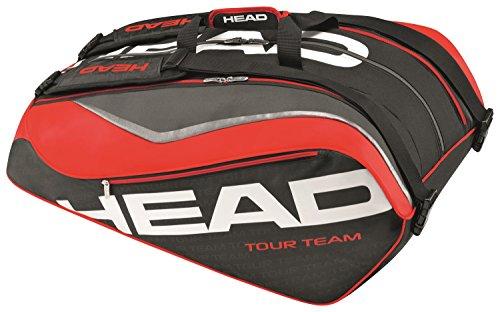 HEAD  Schlägertasche Tour Team 12R Monstercombi, schwarz, 70 x 50 x 10 cm, 0.4 Liter, 283216-BKRD