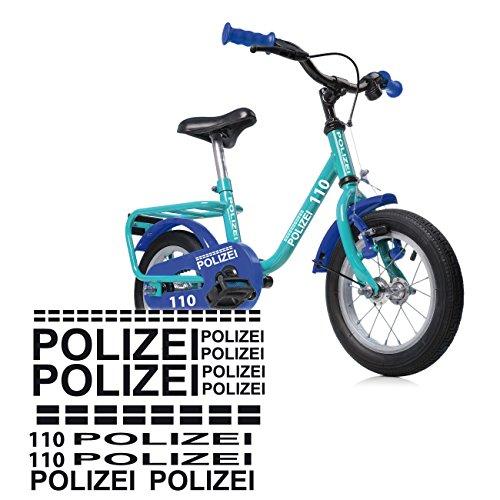 style4Bike Polizei Fahrrad Aufkleber Folienplot Sticker Police Motivaufkleber | S4B0082V2 - Fahrrad-polizei