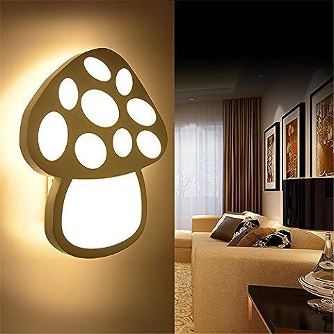 Moderne kreative Nachttischlampe Wandlampe Ganglichter Raumleuchte Wand Schlafzimmer den Wandlampe Flurlampe führte Pilz Wandleuchte leben
