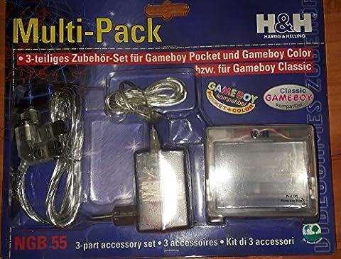 Multi-Pack : Licht & Lupe, Netzteil und Linkkabel für Gameboy-Color und Gameboy-Pocket