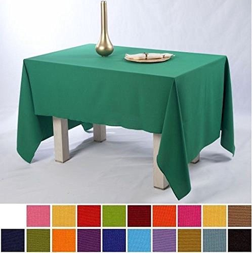 Ivory Polyester Tablecloth Wedding Table Cloth Cover ROUND RECTANGLE (18-Orange, 137cmX229cm (54″x90″))