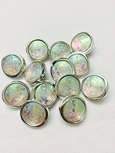 3 pieces of multicolour shining buttons with beads and stone work foe...