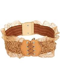 Calonice Amorino Frauen Accessoire offene Web Schnüre, weißes Korsettgürtel Band, eine Größe 30x1x9 cm (BxHxT) 26100