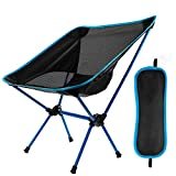 EXTSUD Outdoor Folding Chair, Portable Foldable Aluminum Camping Travel Chair Fishing Hiking Stool