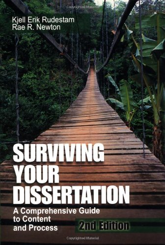 surviving your dissertation rudestam and newton Rudestam surviving you dissertation uploaded by api-6451325 holloway i & walker j (2000) getting a phd in health and social care blackwell science: oxford rudestam k e newton r r (2001) surviving your dissertation a comprehensive guide to content and process london: sage.