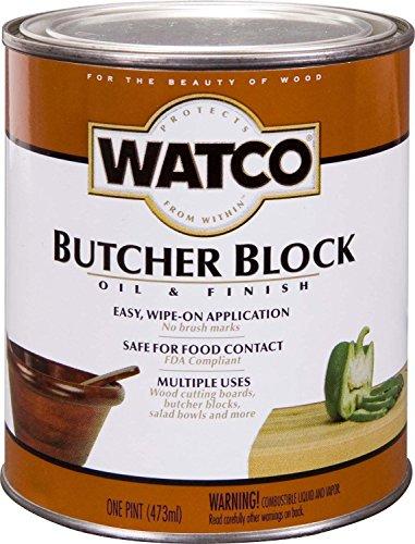 Rust-Oleum 241758 Watco Butcher Block Oil - Food Grade Wood Finish/Varnish (473 ML)