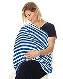 Enfermería cubierta infinity bufanda para asientos de coche resistente al agua toldo azul blue white stripes