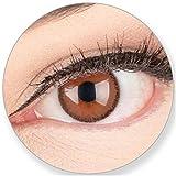 GLAMLENS SILICONE COMFORT SOFT Braune Kontaktlinsenmit Stärke + Behälter Blaue Dunkelblaue Schwarze Graue Grüne Helle Augen - mit Kontaktlinsenbehälter. 2 Farbige Schokobraune 3 Monatslinsen -2,50