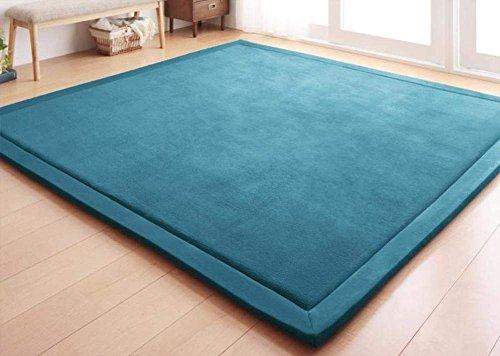 DHG Mats-Coral Fleece-Decke/Teppich für Wohnzimmer, Tee Tisch und Sofa/Gepolsterte Bett Matte/Europeantyle Minimalistischen Teppiche,H,130X190Cm (51X75Inch)