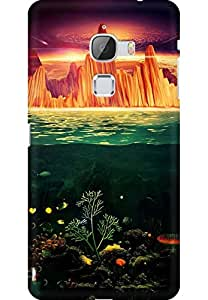 AMEZ designer printed 3d premium high quality back case cover for Letv Le Max (Painting under water)
