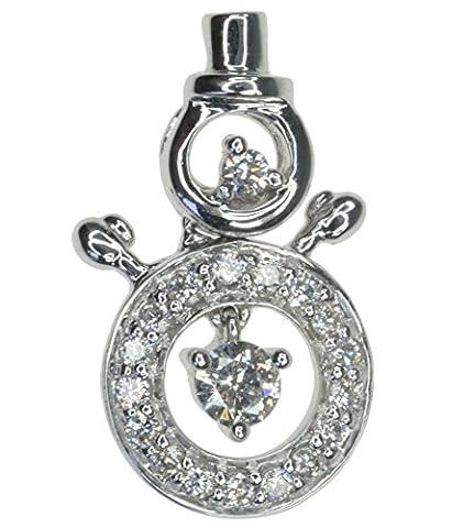 Diamond 0.16 carat Snowman Christmas 14ct White Gold