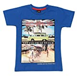 Romano Boys Blue Cotton T-Shirt