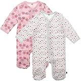Pippi 2er Pack Baby Mädchen Schlafstrampler mit Aufdruck, Langarm mit Füßen, Alter 1-2 Monate, Größe: 56, Farbe: Rosa, 3821