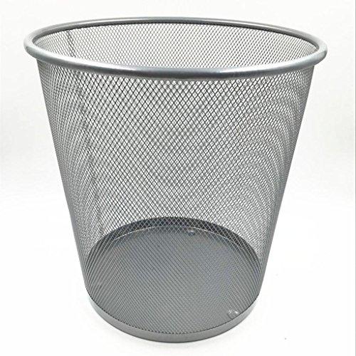 wgwioo-pattumiera-rolodex-maglie-in-acciaio-inox-piccolo-tondo-cestini-confezione-da-2-silver