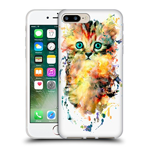 Offizielle Riza Peker Tiger Tiere 2 Soft Gel Hülle für Apple iPhone 6 / 6s Kätzchen