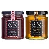 Roh und Nicht Pasteurisiert Honig & Erdbeermarmelade BIO (Strawberry Jam) - Ohne Zuckerzusatz, Französischer Rezept Handwerker aus Korsika, Ohne Konservierungsstoffe Oder Künstliche Aromen