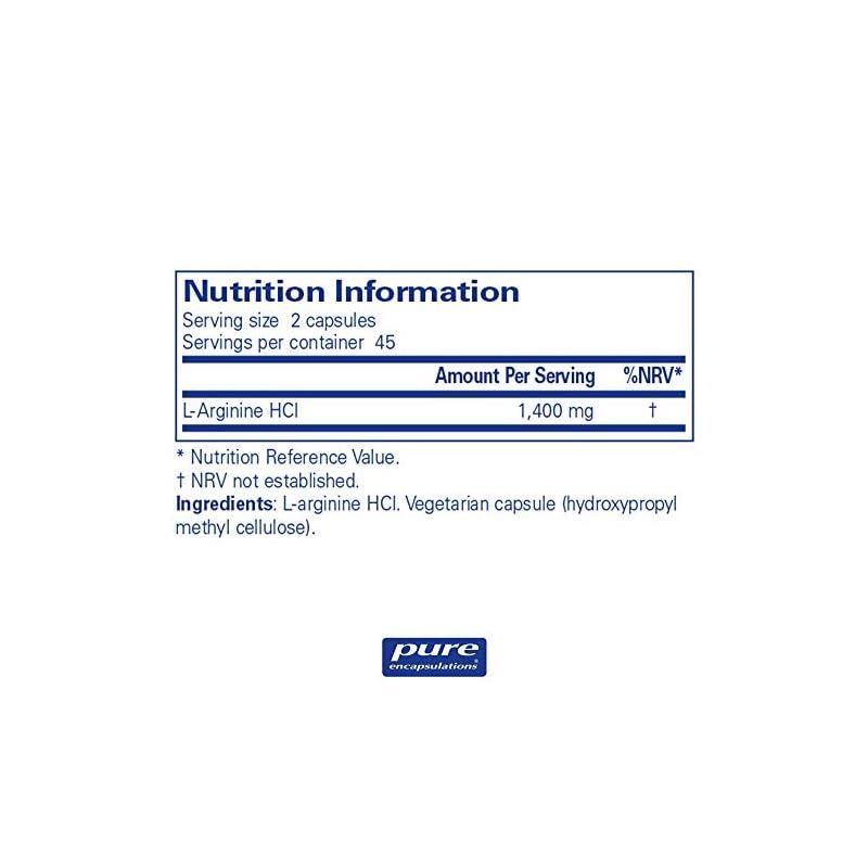 Pure Encapsulations – L-Arginine – Hypoallergenic Supplement Containing l-Arginine – 90 Capsules