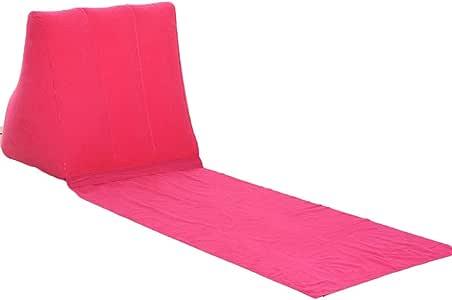 Camping Aufblasen Luftmatratze Strandliege Rückenkissen Kissen Stuhl