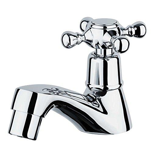 Nostalgie Retro Kaltwasser Waschtisch Armatur mit Kreuzgriff