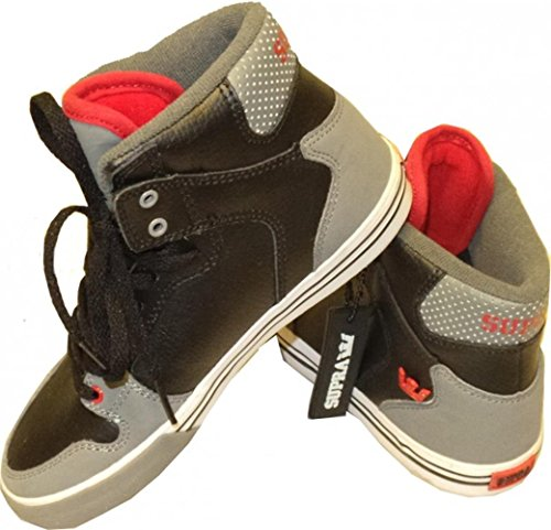 SUPRA Skateboard Schuhe Vaider Kids Schwarz/Grau/Rot, Schuhgrösse:32