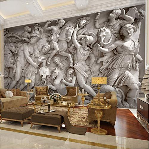Hwhz Benutzerdefinierte 3D Fototapete Europäischen Retro Römischen Statuen Kunst Wandbild Restaurant Wohnzimmer Sofa Kulissen Tapeten Wandbild 3D A-150X120Cm