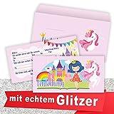 Rosanna Party Design Prinzessin Einladungskarten Kindergeburtstag (10 Karten + 10 Umschläge)