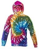 Tie Dye Rainbow Spiral Hoodie Hood S