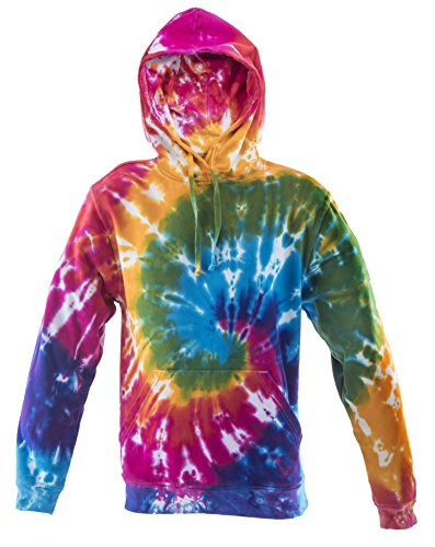 Tie Dye Rainbow Spiral Hoodie Hood XL (Tie Dye Herren-xl)