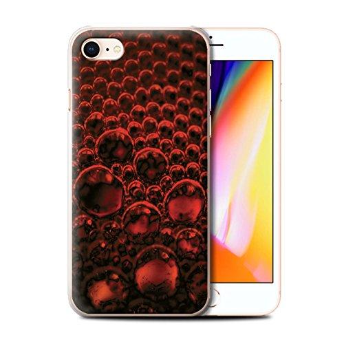 Stuff4 Hülle / Case für Apple iPhone 8 / Grün Muster / Blasen/Tröpfchen Kollektion Rot
