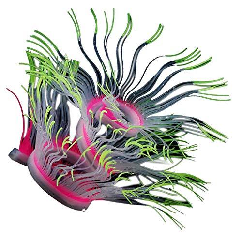 cent Silikon Aquarium Artificial Coral Anemone weiche Bunte Fisch-Behälter Ungiftiger Dekoration Pflanze ()