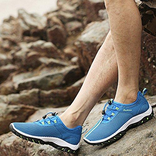 Herren Sneaker / Wanderschuhe / Turnschuhe, atmungsaktiv, weich, ultraleicht Hellbalu
