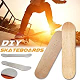 poetryer Skateboard Decks 8 in 8-Couche érable DIY Haute Qualité Simple Durable Conseil Concave à Double Chaîne Designs Deck Seulement