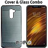 Xiaomi Poco F1 / Pocophone F1 Back Cover Case & Tempered Glass Combo By Popio®