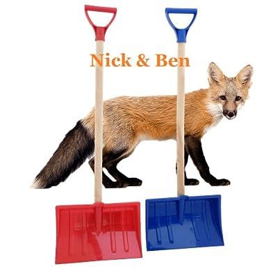 NICK AND BEN® 2 Kinder Fuchs Schneeschieber Schneeschaufel Schneeräumer