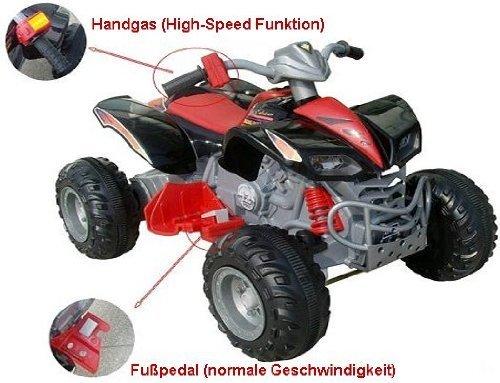 Imagen principal de crooza ® QUAD / ATV Coche con Motor y Batería de 12V coches para niños **2x MOTORES** negro