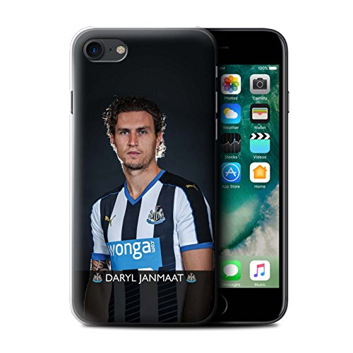 Officiel Newcastle United FC Coque / Etui pour Apple iPhone 7 / Townsend Design / NUFC Joueur Football 15/16 Collection Janmaat