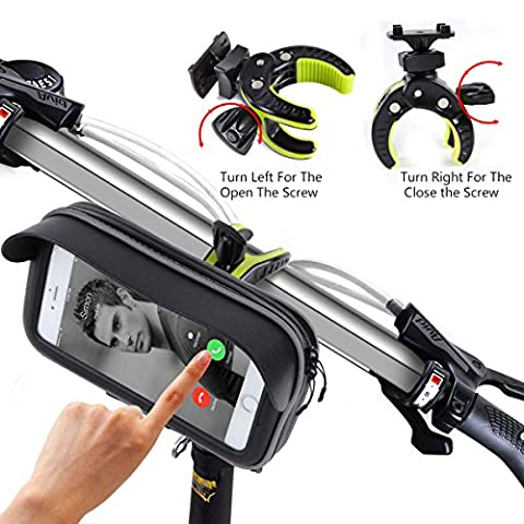 Bike Mount,Global Patent New Design Kainnt Bike Phone Mount Bicycle Holder, Universal Cradle Clamp for iOS Android Smartphone 3.5-5.8inch Phone Device and GPS Devices,With Sun visor to Protect Your Eye, 360 Degrees Rotatable (811 Bike