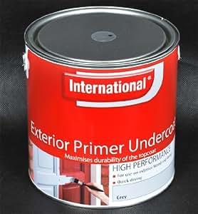International Exterior Primer Undercoat 2.5 Litre - Grey
