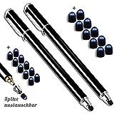 5 Unidades Premium Eingabestift Touchstift Stylus Pen para el iPhone 7 7s 6 6s 5 6s 4, 4S ipad Mini Air, Samsung Galaxy Huawei P7 P8 P9 y todos los Tablets, Smartphones Color: negro azul naranja oro verde.