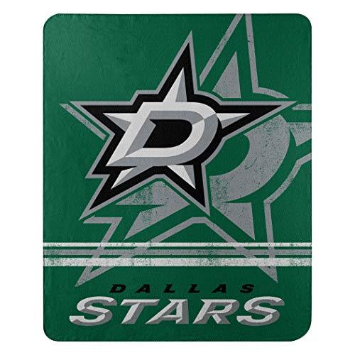 Northwest NHL Dallas Stars NHL verblassen Away 127cm von 152,4cm Bedruckt Fleece Überwurf Decke, Victory grün, 127x 152,4cm